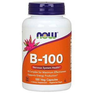ナウフーズ ビタミンB-100 100錠 NOW FOODS Vitamin B-100 100 Veg Capsules|supla