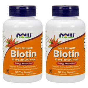 ナウフーズ ビオチン 10mg 120錠 2本セット NOW FOODS Biotin 10mg 120Veg Capsules 2set|supla