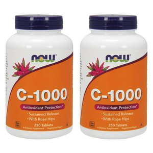 ナウフーズ C-1000 250錠 2本セット Now Foods C-1000 250 Tablets 2set|supla