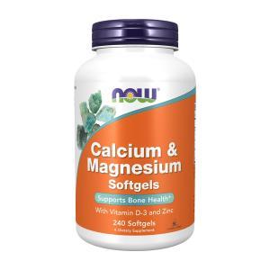 ナウフーズ カルシウム&マグネシウム+ビタミンD-3 240ソフトジェル【NOW FOODS】CAL-MAG+D SOFTGELS 240SGELS|supla