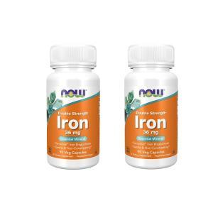 ナウフーズ 鉄 ダブルストレングス 36mg 90錠 2本セット NOW FOODS ron、Double Strength 36 mg、90 Veg Capsules 2set|supla