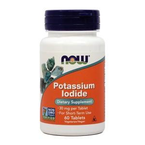 ナウフーズ ヨウ化カリウム 30mg 60錠 Now Foods Potassium Iodide 30 60 Tablets|supla