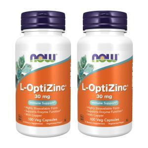ナウフーズ L-オプティジンク 30mg イミューンサポート 100錠 2個セット NOW FOODS L-OptiZinc 30 mg 100 Veg Capsules 2set|supla