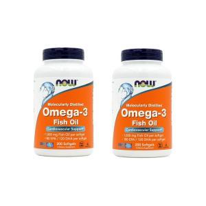 ナウフーズ オメガ3 200錠 2本セット NOW FOODS Omega-3 200 Softgels 2set|supla
