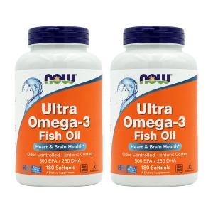 ナウフーズ ウルトラオメガ3 180錠 2個セット NOW FOODS Ultra Omega-3 180 Softgels 2set|supla