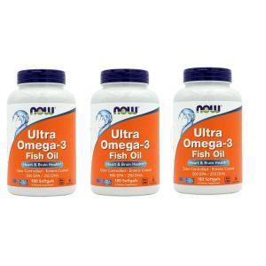 ナウフーズ ウルトラオメガ3 180錠 3個セット NOW FOODS Ultra Omega-3 180 Softgels 3set|supla