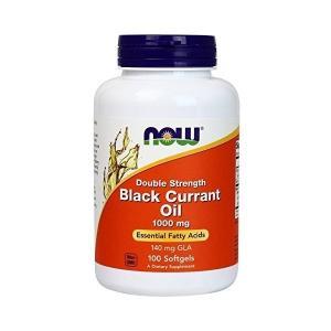 ナウフーズ ダブルストレングス ブラックカラントオイル 1000mg 100ソフトジェル Now Foods Double Strength Black Currant Oil 1000 100 Softgels|supla