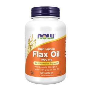 ナウフーズ ハイリグナンフラックス(亜麻仁)油 1000mg 120ソフトジェル Now Foods High Lignan Flax Oil 1,000 120 Softgels|supla