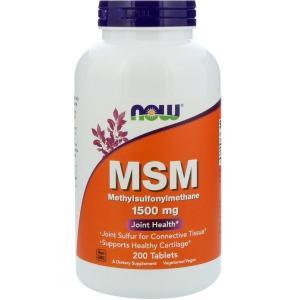 ナウフーズ メチルスルフォニルメタン 1,500mg 200錠 Now Foods MSM 1500 200 Tablets|supla