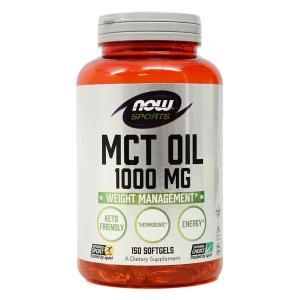 ナウフーズ MCTオイル 1000mg 150ソフトジェル Now Foods MCT Oil 1000 150 Softgels|supla
