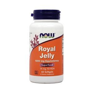ナウフーズ ロイヤルゼリー 1000mg 60ソフトジェル Now Foods Royal Jelly 1,000 60 Softgels|supla