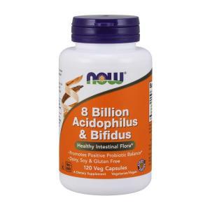 ナウフーズ アシドフィルス菌&ビフィズス菌 120錠 NOW FOODS 8 Billion Acidophilus & Bifidus Veg Capsules 120CAP|supla