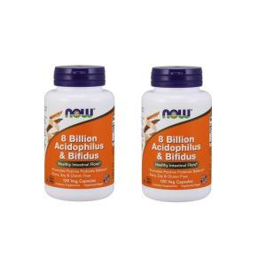 ナウフーズ アシドフィルス菌&ビフィズス菌 120錠 2本セット NOW FOODS 8 Billion Acidophilus & Bifidus Veg Capsules 120CAP 2set|supla