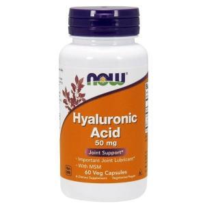 ナウフーズ ヒアルロン酸(MSM含有)50mg 60ベジカプセル Now Foods Hyaluronic Acid With MSM 60 Vcaps supla