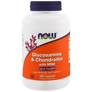 ナウフーズ グルコサミン & コンドロイチン 180錠 NOW FOODS Glucosamine & Chondroitin 180tab|supla