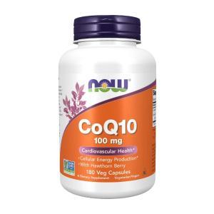 ナウフーズ コエンザイムQ10 ホーソーンベリー配合 100mg 180ベジカプセル Now Foods CoQ10 100 180 Vcaps supla
