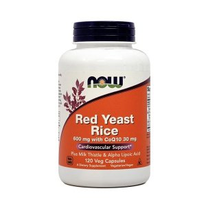 ナウフーズ 紅色酵母米、植物性カプセル120個【NOW FOODS】Red Yeast Rice, 600mg with CoQ10 30mg 120 Veg Capsules|supla