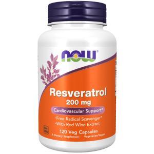 ナウフーズ   ナチュラルレスベラトロール 200 mg 120ベジカプセル NOW FOODS Natural Resveratrol supla