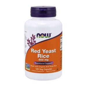 ナウフーズ レッドイーストライス(紅色酵母米) 600mg 120ベジカプセル Now Foods Red Yeast Rice 600 120 Veg Capsules|supla