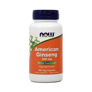 ナウフーズ アメリカニンジン 500mg 100ベジカプセル Now Foods American Ginseng 500 100 Veg Capsules|supla