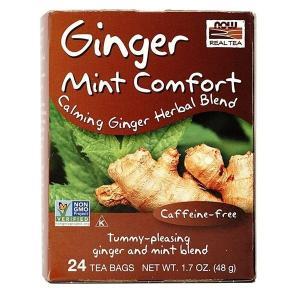 ナウフーズ ジンジャーミントコンフォートティー24袋【NOW FOODS】Ginger Mint Comfort Tea 24 Tea Bags|supla