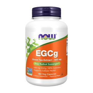 ナウフーズ EGCg(エピガロカテキンガレート)グリーンティーエキス 400mg 180錠 NOW FOODS EGCg Green Tea Extract 400 mg 180 Vcaps supla