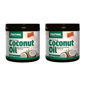 ジャロウフォーミュラズ  エキストラバージンココナッツオイル 473ml 2個セット【Jarrow Formulas】Extra Virgin Coconut Oil   16 fl oz|supla