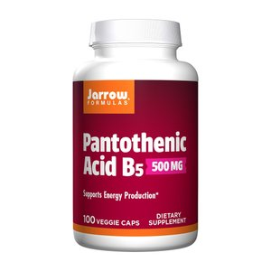 ジャローフォーミュラズ パントテン酸B5 500mg 100錠【Jarrow Formulas】Pantothenic Acid B5, 500 mg, 100 Veggie Caps|supla