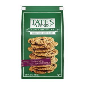 テイツ ベイクショップ クッキーズ オールナチュラル オートミール レーズンクッキー 198g【Tates Bake Shop Cookies】All Natural Oatmeal Raisin Cookies 7 oz|supla