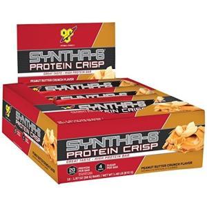 ビーエスエヌ シンサ6プロテインクリスピーバー ピーナツバタークランチ味 12本入り BSN Syntha-6 Protein Crisp, Peanut Butter Crunch Flavor 12bar|supla