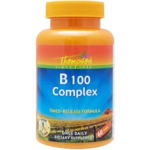 ビタミンB ビタミンB100コンプレックス(タイムリリース型) 60粒 TOP1