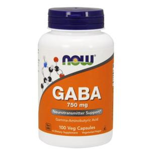 ギャバ GABA 750mg 100粒(ベジタリアンカプセル) NOW