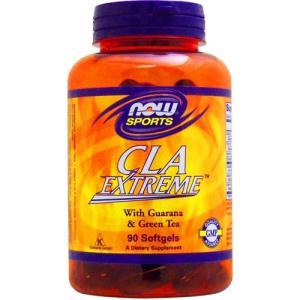 CLAエクストリーム(スーパー共役リノール酸、ガラナ、グリーンティー配合)90粒 NOW|suplinx