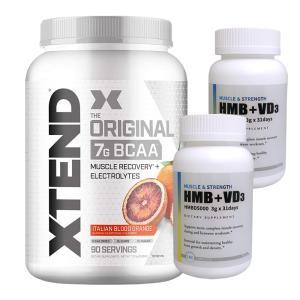 超お得セット 大容量約1.3kg エクステンド BCAA+Lグルタミン+シトルリン ブラッドオレンジ 1個 &HMB+VD3 2個 suplinx