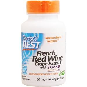 ベスト フレンチレッドワインエキス 60mg(レスベラトロール含有) 90粒|suplinx