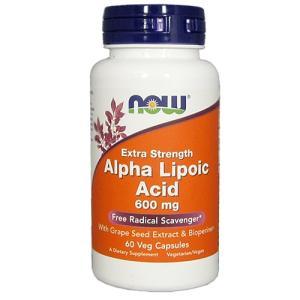 アルファリポ酸 600mg&標準化 グレープシードエキス +バイオペリン 60ベジカプセル