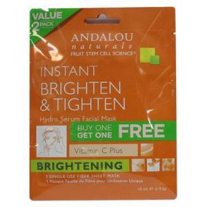 ANDALOU ハイドロセラム・フェイシャルマスク、ブライトニング 0.6 fl oz 18ml アンダルー|supplefactory