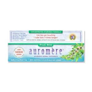 オーロメア アーユルヴェーダ ハーバル歯磨き粉 フレッシュミント 117g|supplefactory