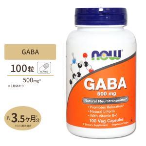 ギャバ GABA + ビタミンB6 500mg 100粒 NOW Foods ナウフーズ