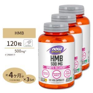 HMB サプリ 500mg 120粒 カプセル 3個セット NOW Foods ナウフーズ supplefactory