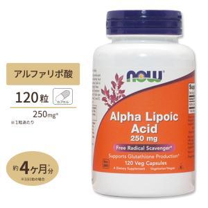 αリポ酸 サプリ 250mg 120粒 NOW Foods ナウフーズ
