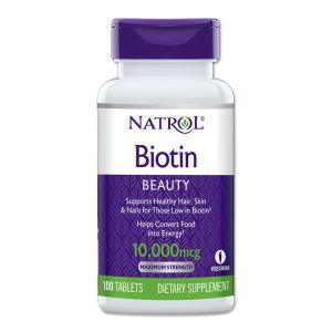 ビオチン サプリ 10000mcg 100粒 ビタミンH Natrol ※限定価格 [送料無料] ■P1016