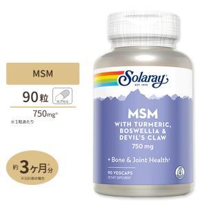 MSM 750mg 90粒 ベジタブルカプセル Solaray(ソラレー)|supplefactory