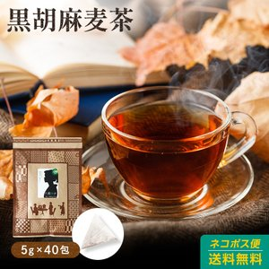 黒ごま麦茶 5g×40包 1200円 ゴマペプチド ノンカフェイン 麦茶 むぎちゃ ムギ茶 ゴマ