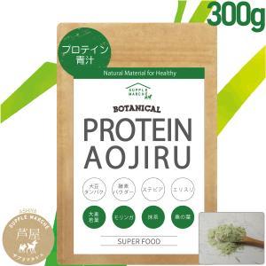 プロテイン青汁 プレミアム 300g ソイプロテイン 大麦若葉 桑の葉 モリンガ 抹茶 大豆プロテイン(非遺伝子組替)85種の酵素パウダー|supplemarche