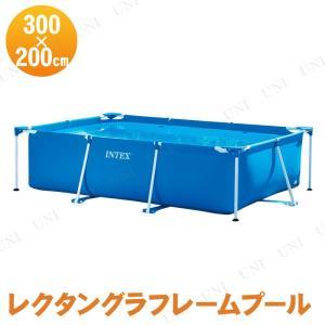 組み立ても簡単なフレーム式の大型プールです。ポールを組み立てるとプールの形になるので、膨らませる必要...