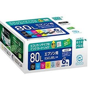 IC6CL80L エコリカ ECI-E80L-6P エコリカ リサイクルインク 6色パック |supplyr
