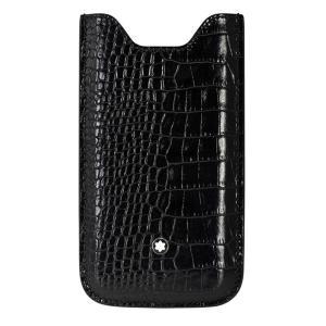 MONTBLANC モンブラン 本革 スマホケース 携帯ケース アイフォン i phone5 5se クロコ ブラック 109628|supplystore
