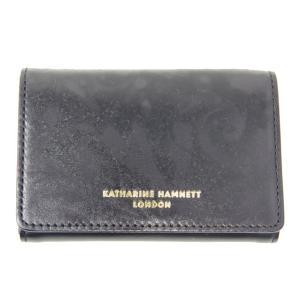 KATHARINE HAMNETT キャサリンハムネット キーケース 本革 P49010 ブラック 新品|supplystore