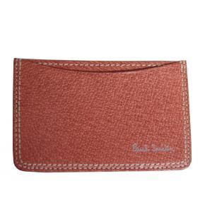 ポールスミス PaulSmith 単パスケース 定期入れ カードケース 豚革 レッド 新品展示品|supplystore